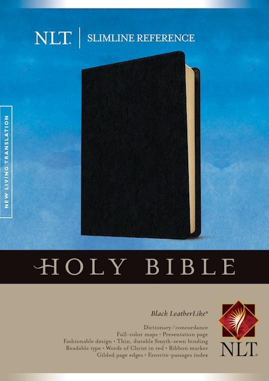 NLT Slimline Reference Bible-Black LeatherLike  | SHOPtheWORD