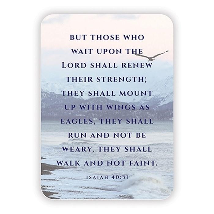 "Verse Card-Isaiah 40:31 (2.5""x 3.5"") | SHOPtheWORD"