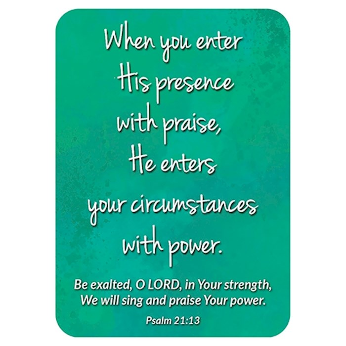 "Verse Card-Enter His Presence (2.5""x 3.5"") 