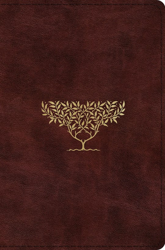 ESV Compact Bible-Burgundy Olive Tree Design TruTone  | SHOPtheWORD