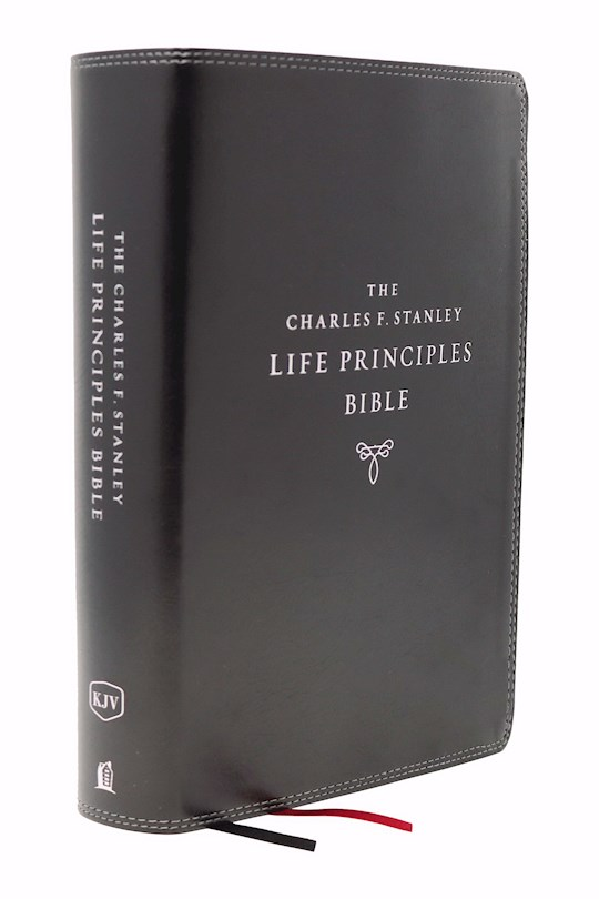 KJV Charles F. Stanley Life Principles Bible (2nd Edition) (Comfort Print)-Black Leathersoft Indexed | SHOPtheWORD