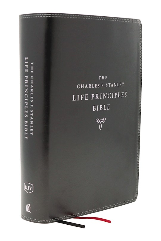 KJV Charles F. Stanley Life Principles Bible (2nd Edition) (Comfort Print)-Black Leathersoft | SHOPtheWORD