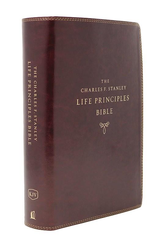 KJV Charles F. Stanley Life Principles Bible (2nd Edition) (Comfort Print)-Burgundy Leathersoft Indexed | SHOPtheWORD