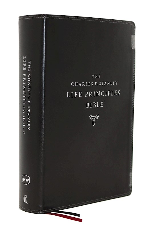 NKJV Charles F. Stanley Life Principles Bible (2nd Edition) (Comfort Print)-Black Leathersoft | SHOPtheWORD