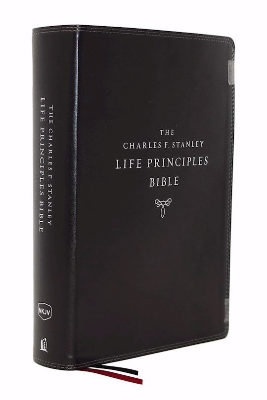 NKJV Charles F. Stanley Life Principles Bible (2nd Edition) (Comfort Print)-Black Leathersoft Indexed   SHOPtheWORD