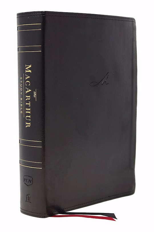 NKJV MacArthur Study Bible (2nd Edition) (Comfort Print)-Black Leathersoft Indexed | SHOPtheWORD