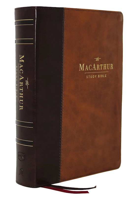 NKJV MacArthur Study Bible (2nd Edition) (Comfort Print)-Brown Leathersoft   SHOPtheWORD