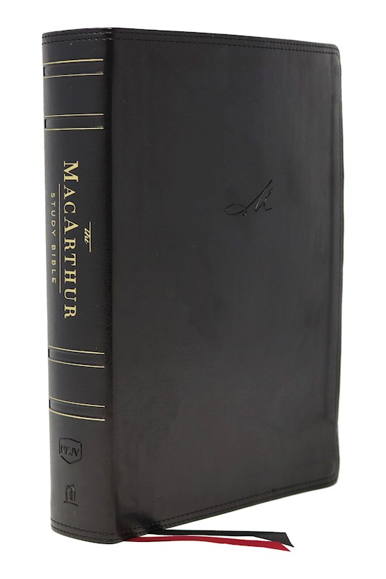 NKJV MacArthur Study Bible (2nd Edition) (Comfort Print)-Black Leathersoft | SHOPtheWORD
