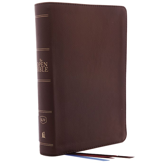 KJV Open Bible (Comfort Print)-Brown Genuine Leather | SHOPtheWORD