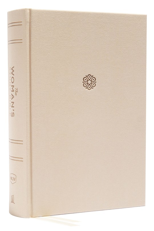 NKJV Woman's Study Bible (Full Color)-Cream Cloth Over Board   SHOPtheWORD