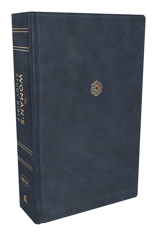 NKJV Woman's Study Bible (Full Color)-Navy Blue Leathersoft | SHOPtheWORD