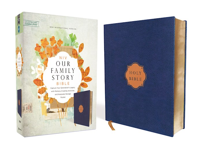 NIV Our Family Story Bible (Comfort Print)-Navy Cloth Over Board | SHOPtheWORD