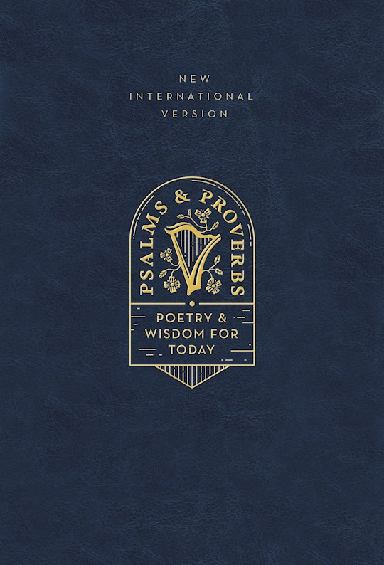 NIV Psalms And Proverbs (Comfort Print)-Navy Cloth Over Board | SHOPtheWORD