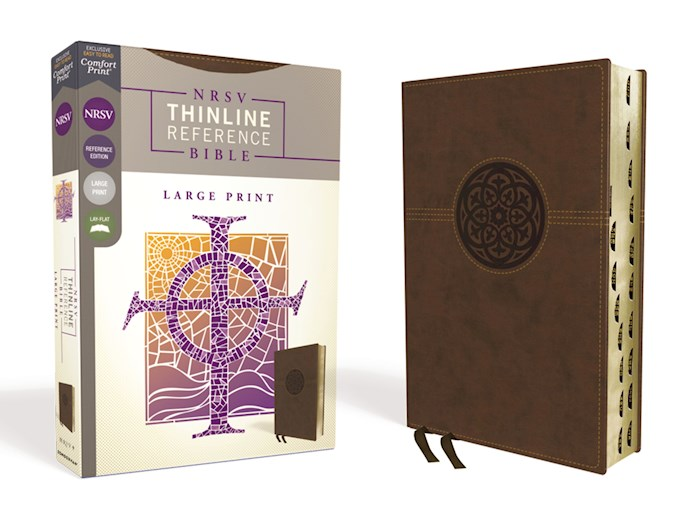 NRSV Thinline Reference Bible/Large Print (Comfort Print)-Brown Leathersoft Indexed | SHOPtheWORD