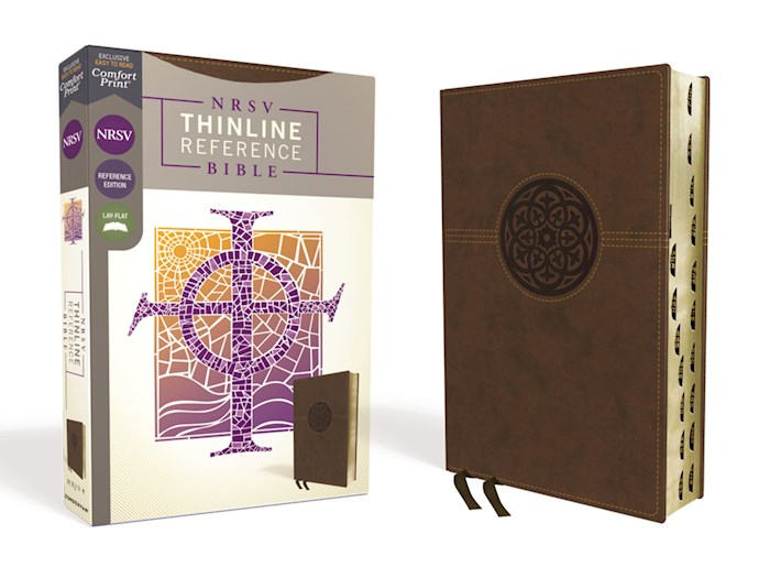 NRSV Thinline Reference Bible (Comfort Print)-Brown Leathersoft Indexed | SHOPtheWORD