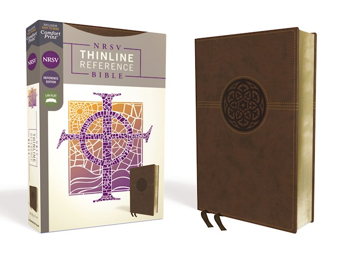 NRSV Thinline Reference Bible (Comfort Print)-Brown Leathersoft   SHOPtheWORD