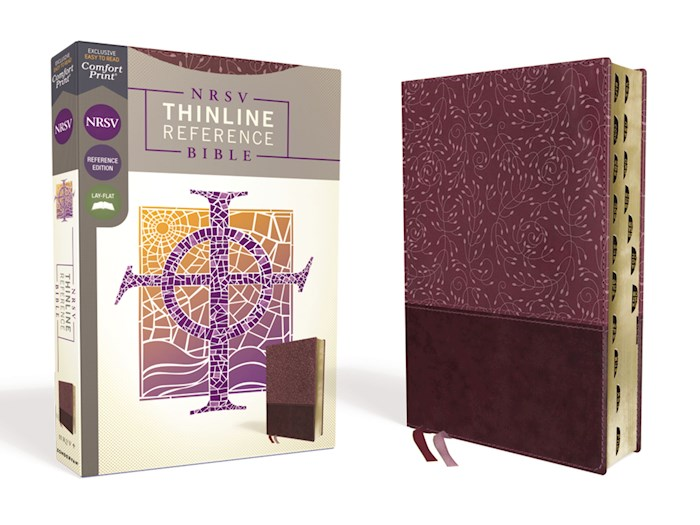 NRSV Thinline Reference Bible (Comfort Print)-Burgundy Leathersoft Indexed | SHOPtheWORD