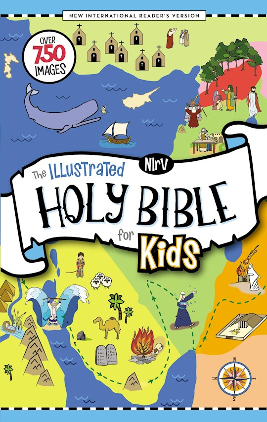 NIrV The Illustrated Holy Bible For Kids (Comfort Print)-Hardcover | SHOPtheWORD