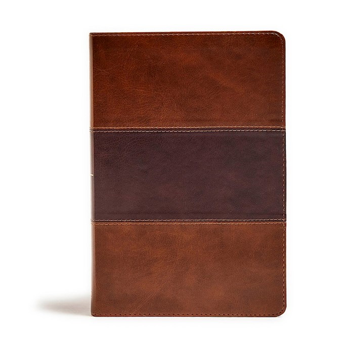 KJV Giant Print Reference Bible-Saddle Brown LeatherTouch Indexed | SHOPtheWORD