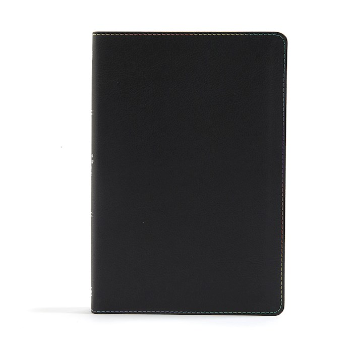 KJV Rainbow Study Bible-Black LeatherTouch Indexed | SHOPtheWORD