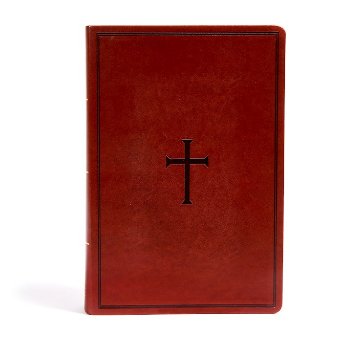KJV Super Giant Print Reference Bible-Brown LeatherTouch Indexed | SHOPtheWORD