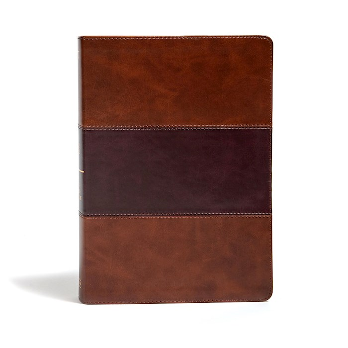 KJV Super Giant Print Reference Bible-Saddle Brown LeatherTouch | SHOPtheWORD