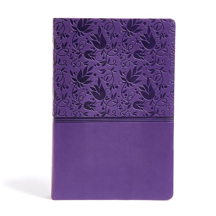 KJV Super Giant Print Reference Bible-Purple LeatherTouch Indexed | SHOPtheWORD