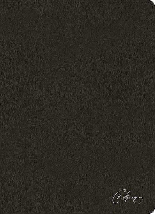 Span-RVR 1960 Spurgeon Study Bible-Black Genuine Leather (Biblia De Estudio Spurgeon) | SHOPtheWORD