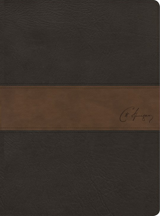 Span-RVR 1960 Spurgeon Study Bible (Biblia de Estudio Spurgeon)-Black/Brown Imitation Leather | SHOPtheWORD