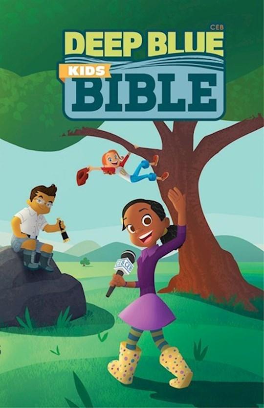 CEB Deep Blue Kids Bible-Wilderness Trail-Hardcover | SHOPtheWORD