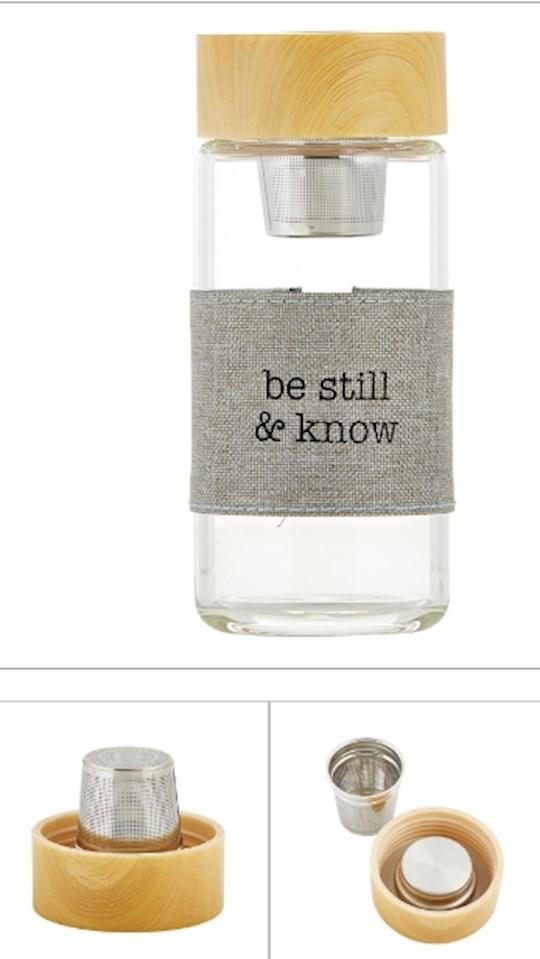 "Bottle-Tea Infuser-Be Still & Know (6"" High 12 Oz) | SHOPtheWORD"