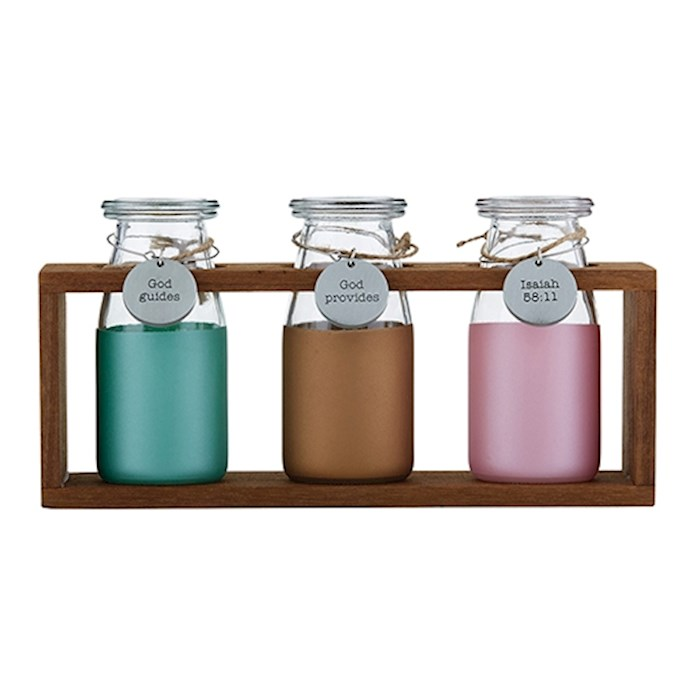 Garden Milk Jar Set-Christian Verse-Isaiah 58:11 (Set Of 3) | SHOPtheWORD