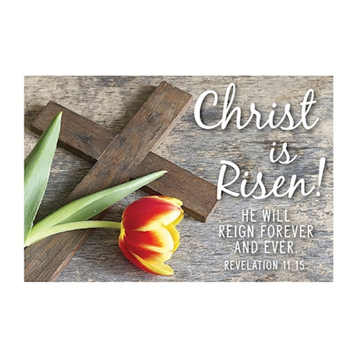 "Cards-Pass It On-Christ Is Risen/Tulip (3"" x 2"") (Pack Of 25) 