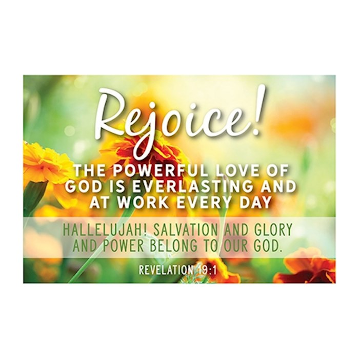 "Cards-Pass It On-Rejoice/Floral (3"" x 2"") (Pack Of 25) 