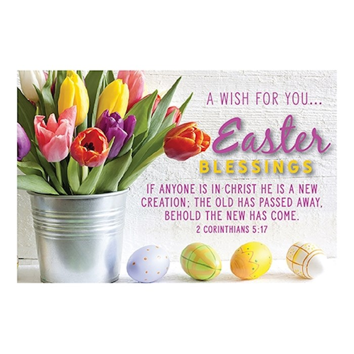 "Cards-Pass It On-Easter Blessings/Floral (3"" x 2"") (Pack Of 25) 