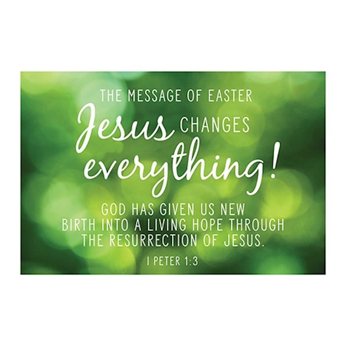 "Cards-Pass It On-Jesus Changes Everything/Green (3"" x 2"") (Pack Of 25) 
