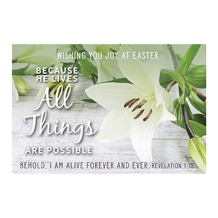 "Cards-Pass It On-All Things Are Possible (White Lily) (3"" x 2"") (Pack Of 25) 