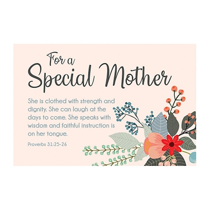 "Cards-Pass It On-For A Special Mother (Flowers) (3"" x 2"") (Pack Of 25) 
