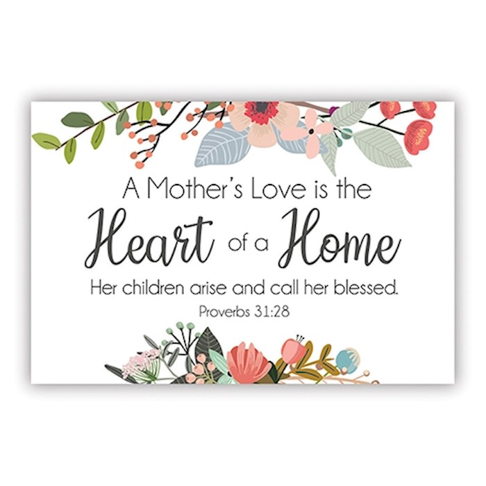 """Cards-Pass It On-Heart Of A Home/Floral (3"""" x 2"""") (Pack Of 25) 