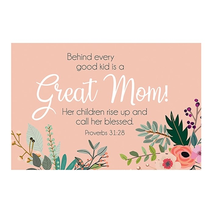 """Cards-Pass It On-Great Mom/Floral (3"""" x 2"""") (Pack Of 25) 