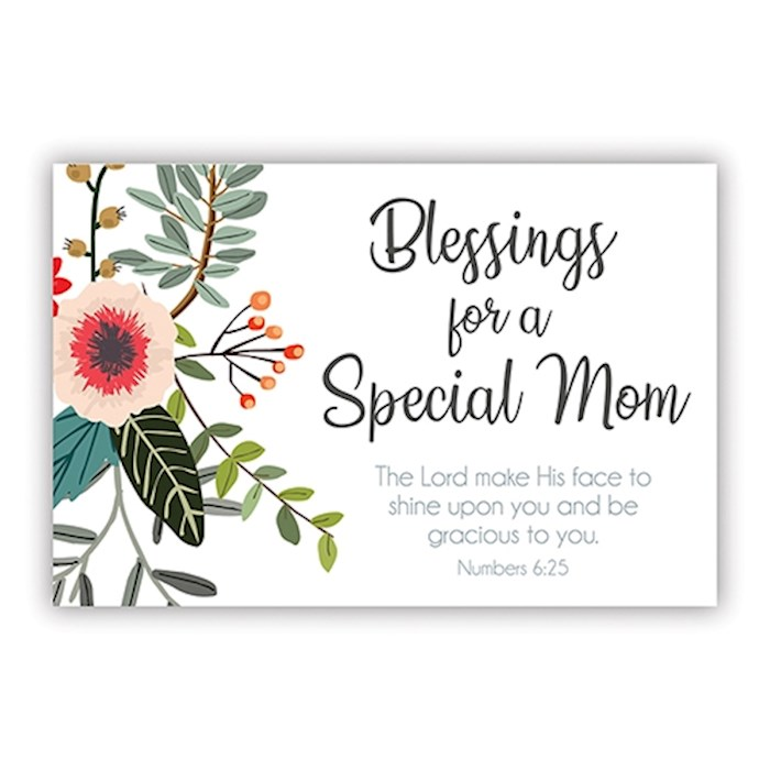 "Cards-Pass It On-Special Mom/Floral (3"" x 2"") (Pack Of 25) 