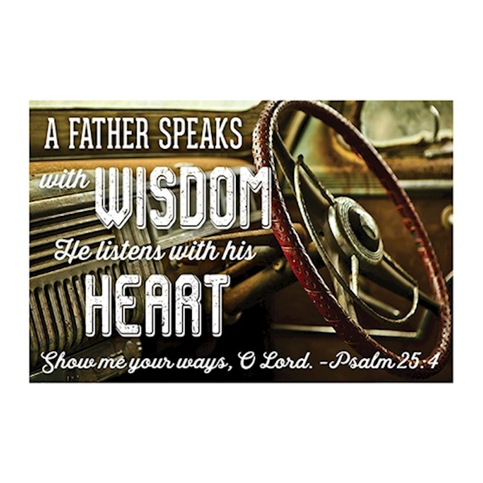 """Cards-Pass It On-Father Speaks With Wisdom/Auto (3"""" x 2"""") (Pack Of 25) 