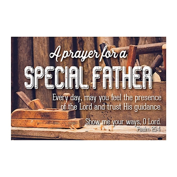 "Cards-Pass It On-Prayer For A Special Father/Tools (3"" x 2"") (Pack Of 25) 