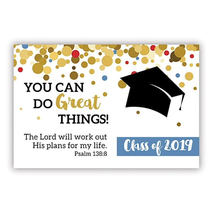 "Cards-Pass It On-You Can Do Great Things-Class Of 2019 (3"" x 2"") (Pack Of 25) 
