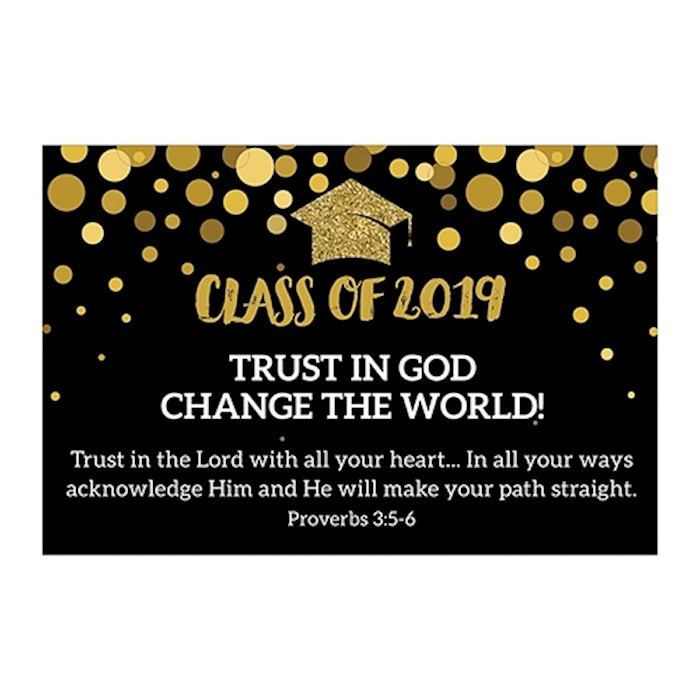 "Cards-Pass It On-Trust In God-Class Of 2019 (3"" x 2"") (Pack Of 25) 