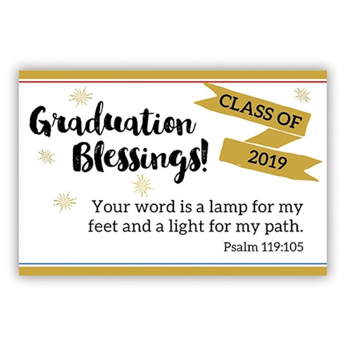 "Cards-Pass It On-Graduation Blessings-Class Of 2019 (3"" x 2"") (Pack Of 25) 