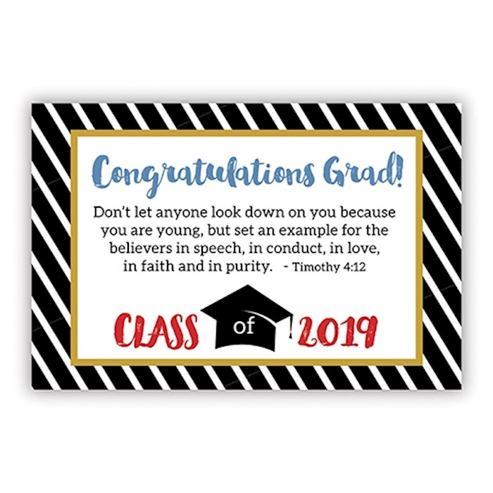 "Cards-Pass It On-Congratulations Grad-Class Of 2019 (3"" x 2"") (Pack Of 25) 