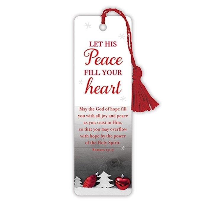 VerseMark-Let His Peace Fill Your Heart-White/Red | SHOPtheWORD