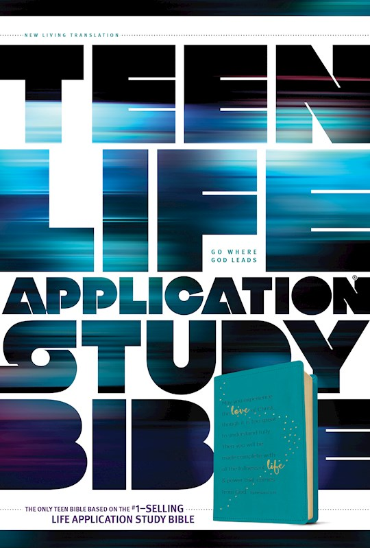 NLT Teen Life Application Study Bible-Teal LeatherLike   SHOPtheWORD