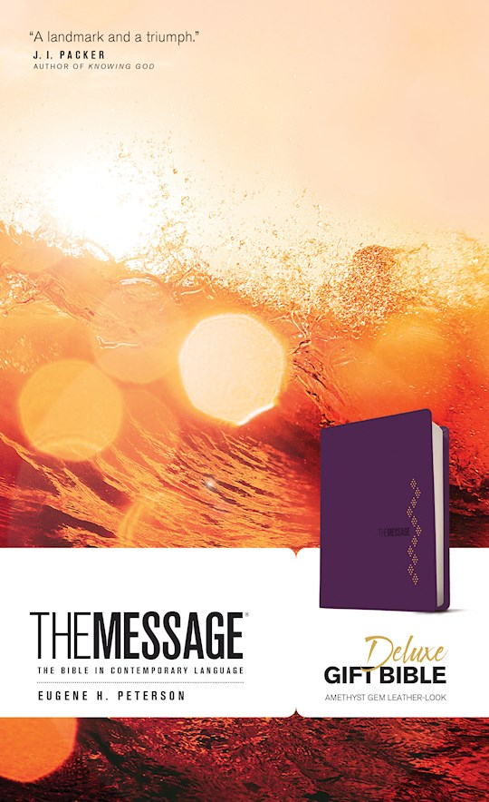 The Message Deluxe Gift Bible-Amethyst Gem LeatherLook | SHOPtheWORD